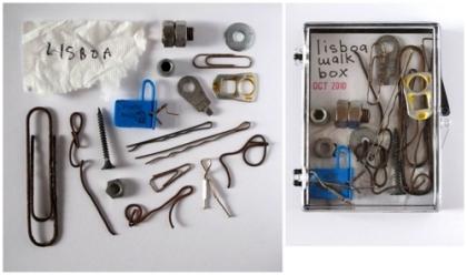 Walk Box - found objects from a walk around Lisbon - jamie newton